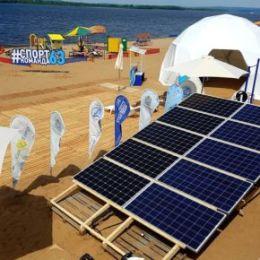 Компания «Эко Энерджи» поставила солнечные батареи на спортфестиваль