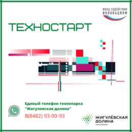 Региональное представительство ФСИ в технопарке «Жигулевская долина» приглашает на «ТЕХНОСТАРТ»